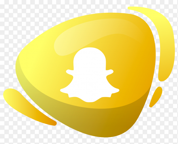 Snapchat logo in gradient colors on transparent background PNG