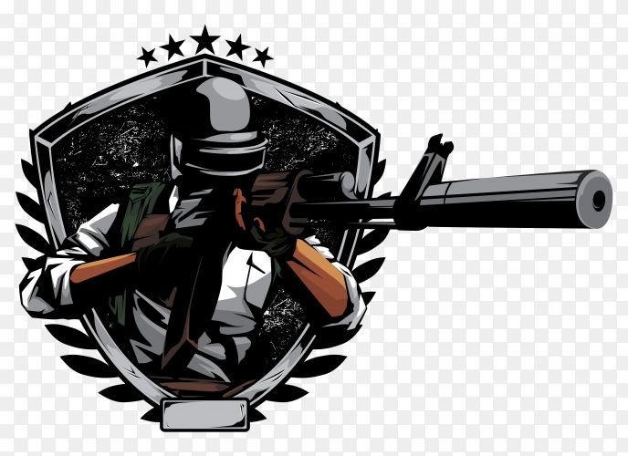 Sniper ready fire in pubg game Clipart  PNG