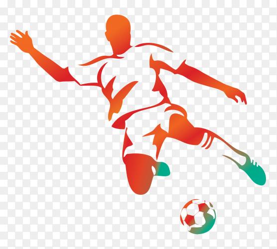 Soccer player Cartoon illustration on transparent background PNG