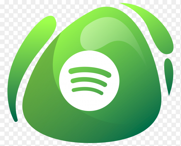 Spotify logo in gradient colors on transparent background PNG