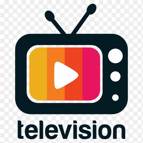 Television logo design on transparent background PNG