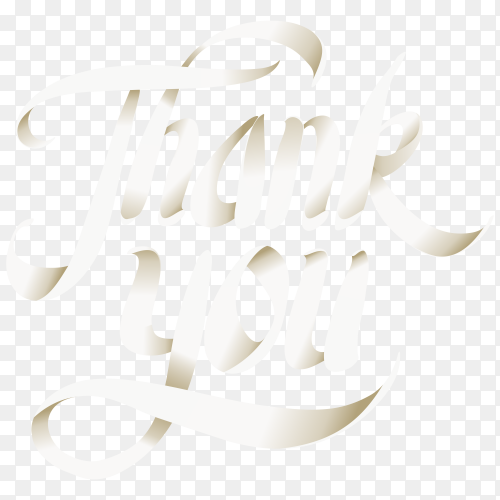 Thank you background with lettering on transparent background PNG