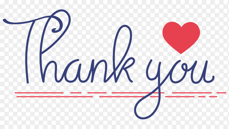 Thank you hand written illustration on transparent background PNG