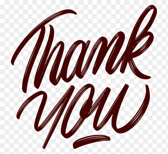 Thank you isolated premium vector PNG