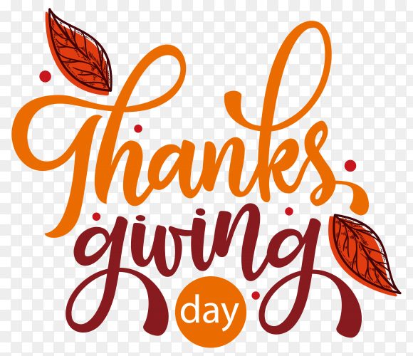 Thanks giving day label in hand drawn style premium vector PNG