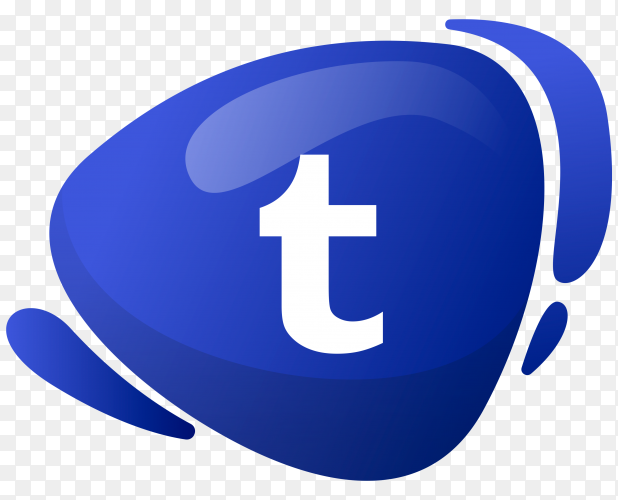 Tumblr logo in gradient colors on transparent background PNG