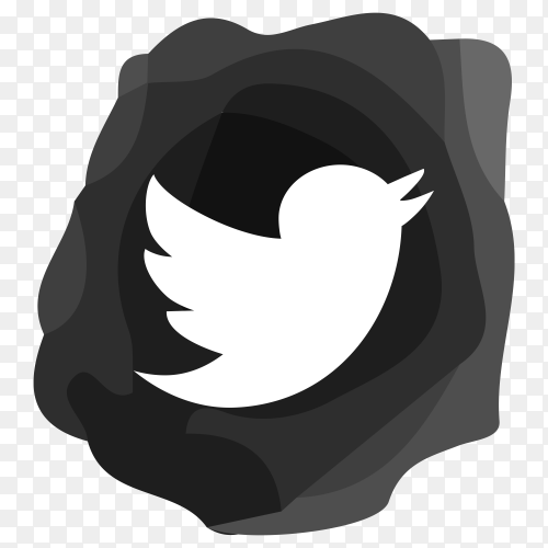 Twitter sign icon design with black color premium vector PNG