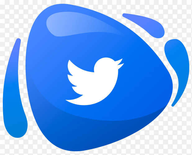 Twitter logo in gradient colors on transparent PNG
