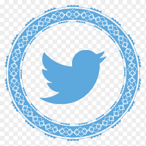 Twitter modern style icon premium vector PNG