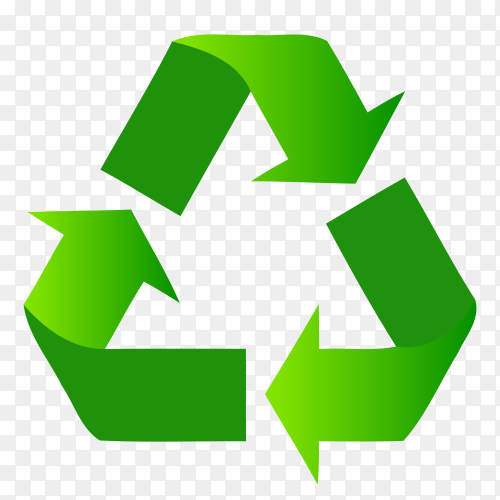 Waste Management and Recycling Solutions illustration on transparent background PNG