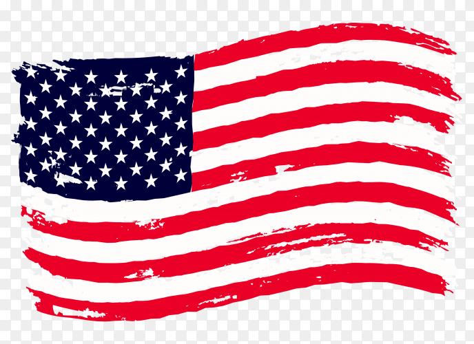 Waving American flag premium vector PNG