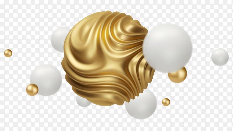 Wavy sphere shape illustration on transparent background PNG
