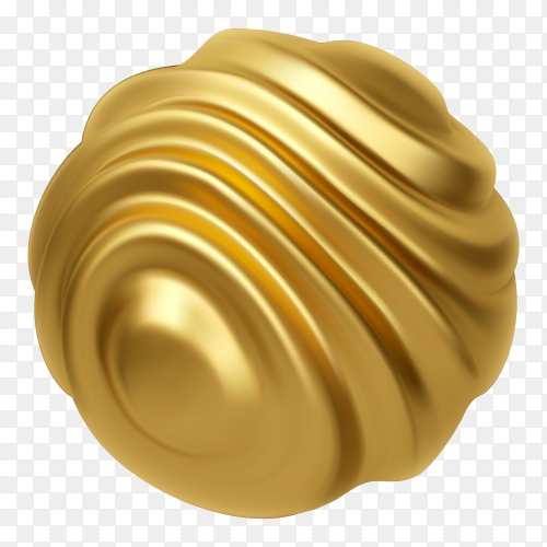 Wavy sphere shape illustration premium vector PNG