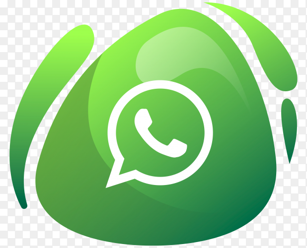 Whatsapp logo in gradient colors on transparent background PNG