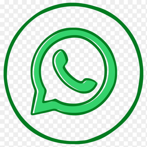 Whatsapp icon in circle design premium vector PNG