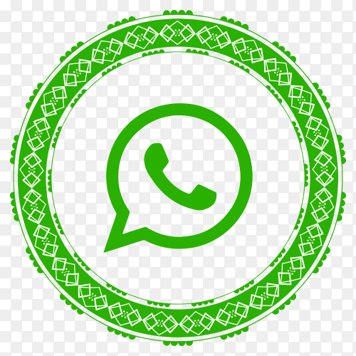 Whatsapp modern style icon on transparent PNG