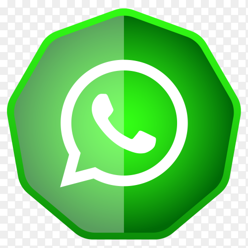 Whatsapp icon button premium vector PNG