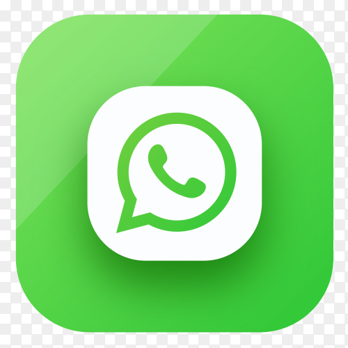 Whatsapp icon design in gradient colors premium vector PNG