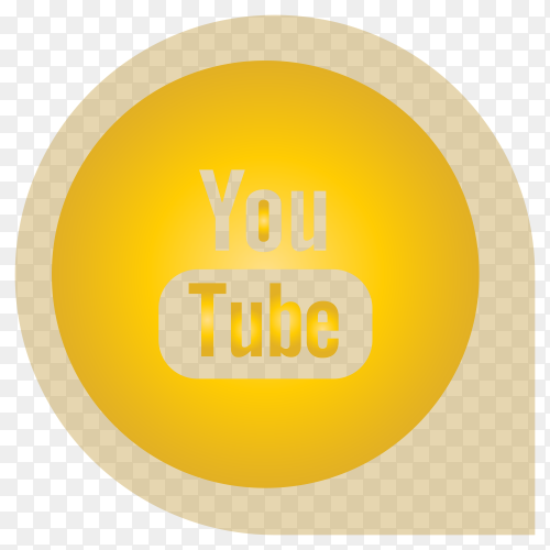 Yellow Youtube sign icon premium vector PNG