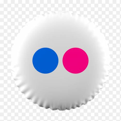 3D Balloon Flickr icon on transparent background PNG