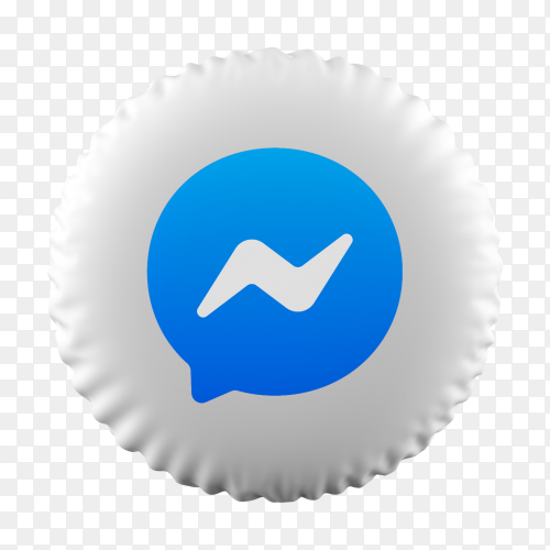 3D Balloon Messenger icon on transparent background PNG