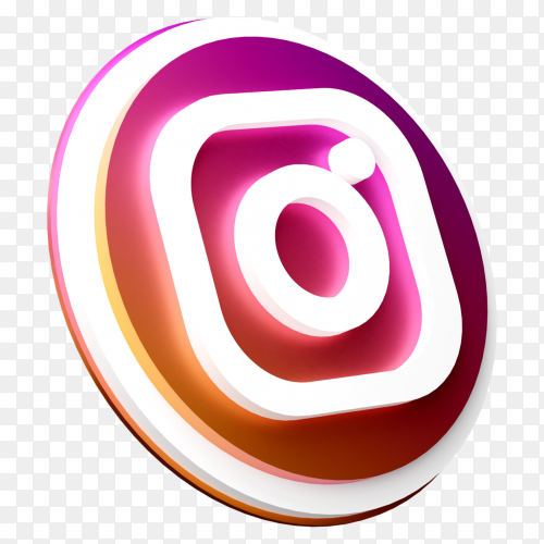 3D Instagram icon design on transparent background PNG