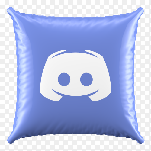 3D Pillow Discord icon on transparent background PNG