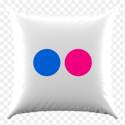 3D Pillow Flickr icon on transparent background PNG