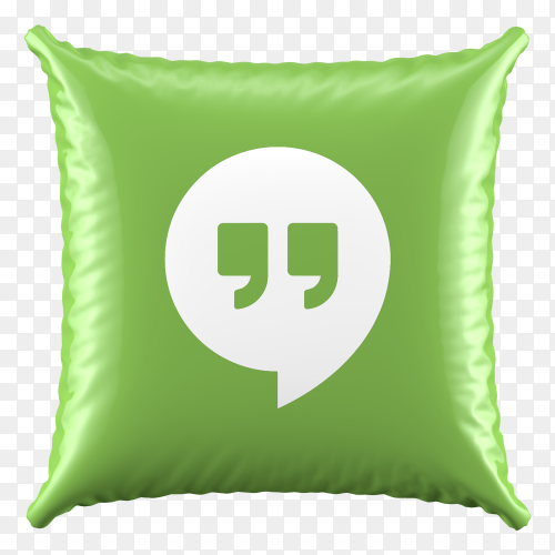 3D Pillow Hangout icon on transparent background PNG