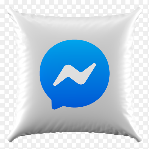 3D Pillow Messenger icon on transparent background PNG