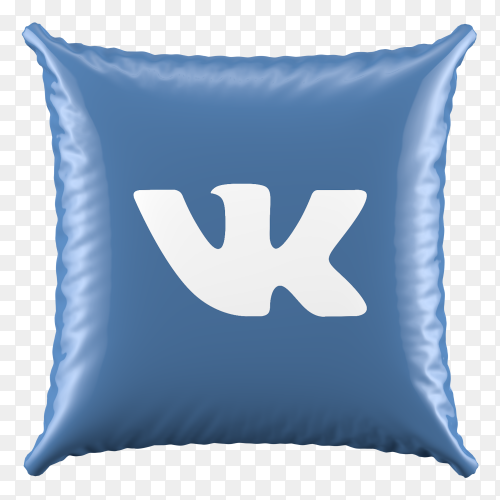 3D Pillow Vk icon on transparent background PNG