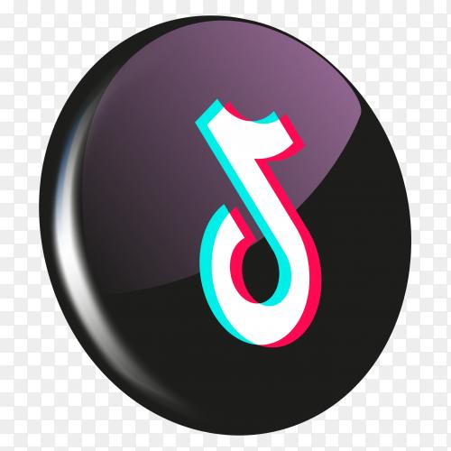 3D Tiktok icon design on transparent background PNG