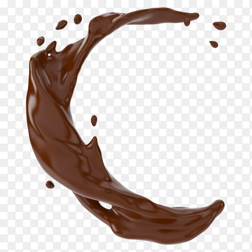 A splash of chocolate on transparent background PNG