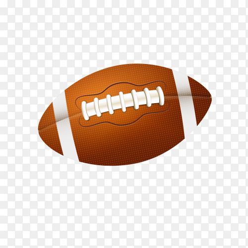 American football illustration on transparent background PNG