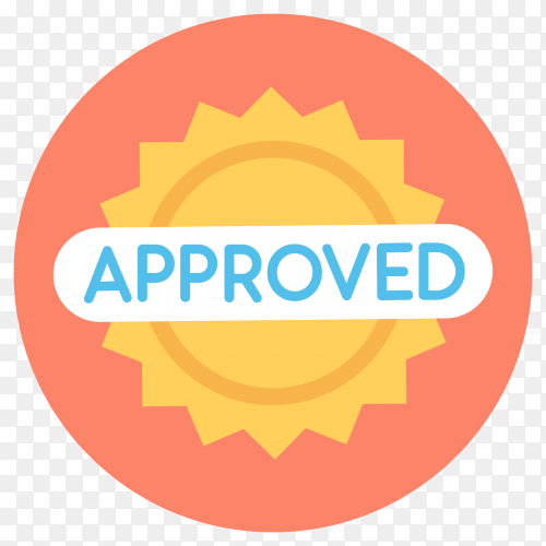 Approved label sticker premium vector PNG