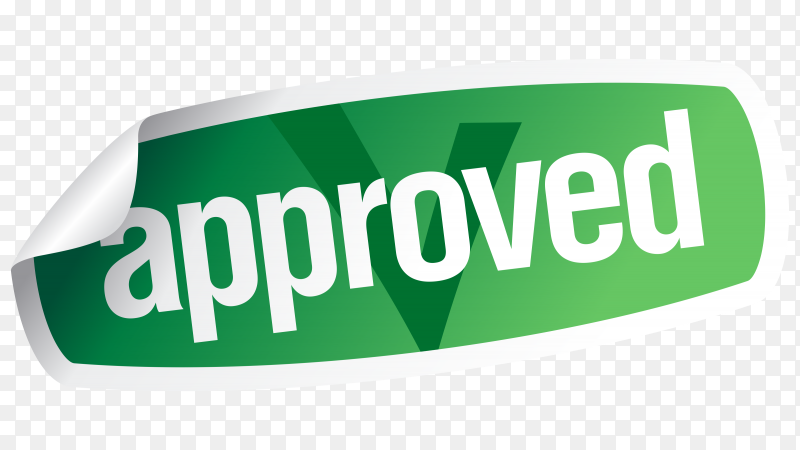 Approved sticker premium vector PNG