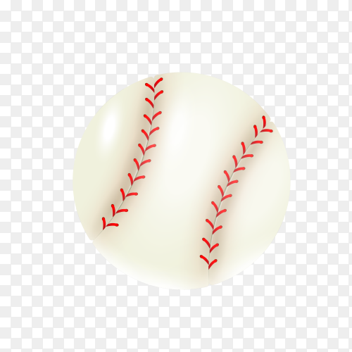 Baseball ball isolated realistic on transparent background PNG