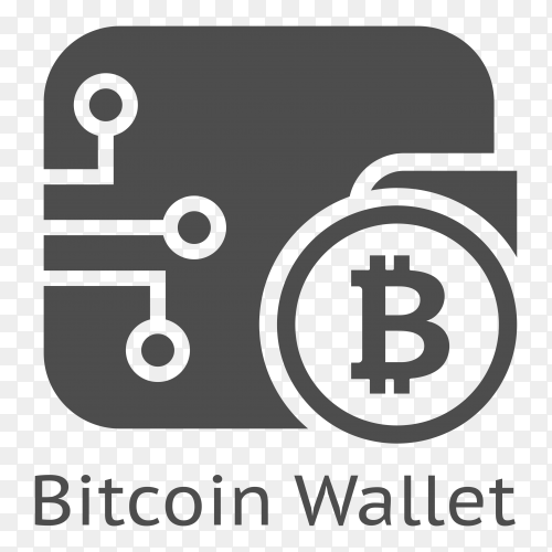 Bitcoin Wallet icon on transparent background PNG