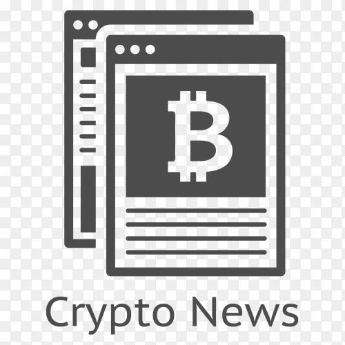 Bitcoin Crypto News icon premium vector PNG