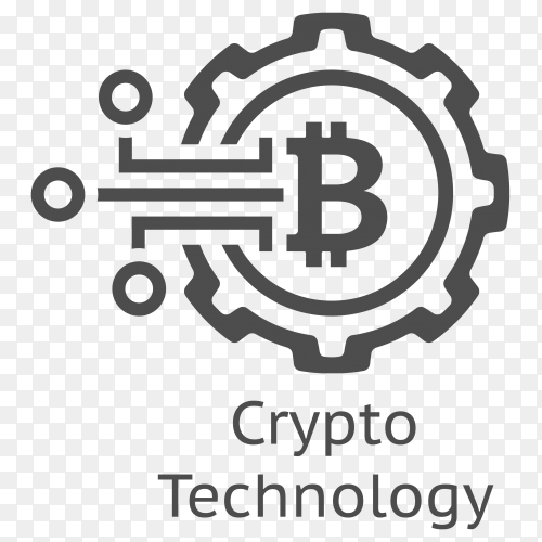 Bitcoin Crypto technology logo on transparent background PNG