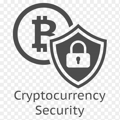 Bitcoin Cryptocurrency Security icon on transparent background PNG