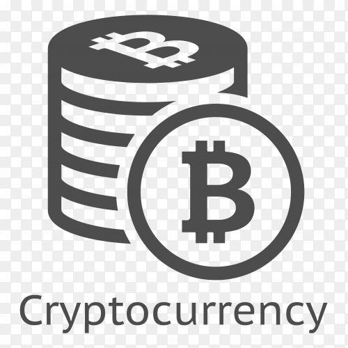 Bitcoin cryptocurrency on transparent background PNG