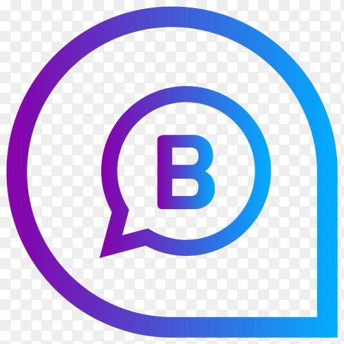 Blogger icon modern design on transparent background PNG