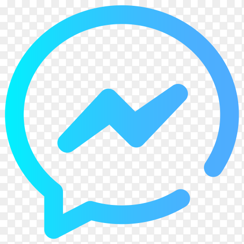 Blue Facebook messenger icon premium vector PNG