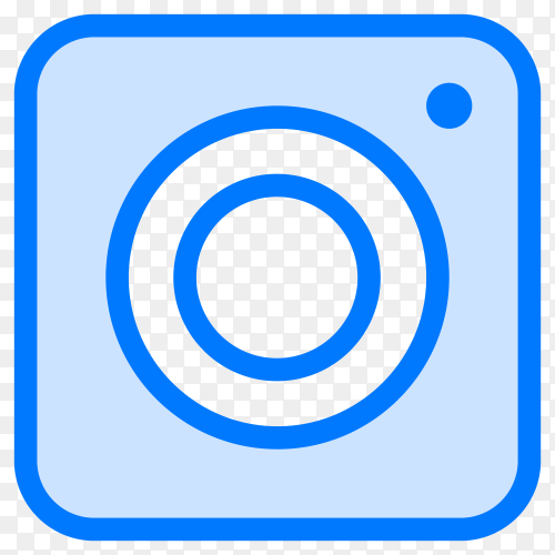 Blue instagram icon design on transparent background PNG