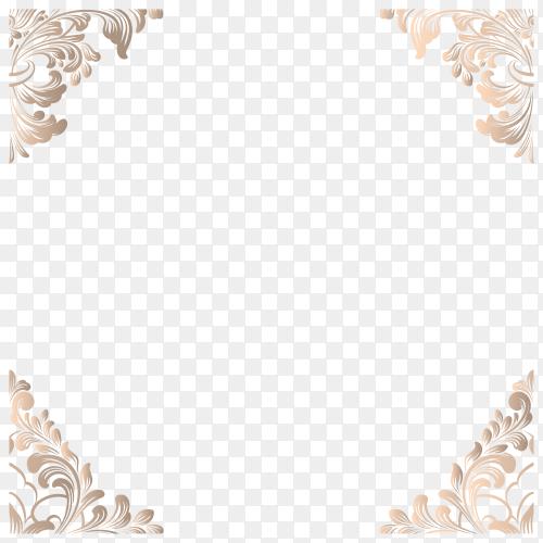 Borders Decoration Frame on transparent background PNG