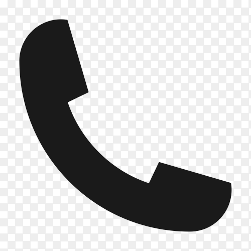Call icon on transparent background PNG