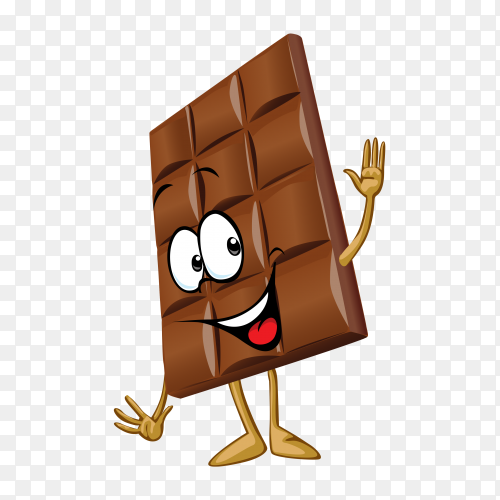 Cartoon Chocolate on transparent background PNG