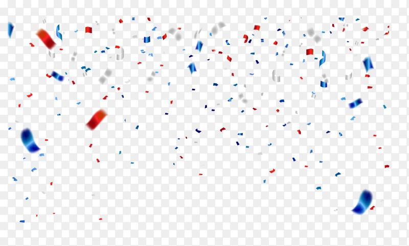 Celebration confetti illustration on transparent background PNG