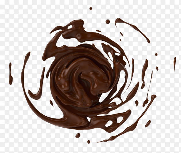 Chocolate milk splash on transparent PNG